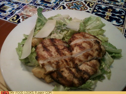chicken healthy heart love salad