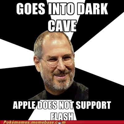 apple,dark cave,flash,meme,Memes,steve jobs
