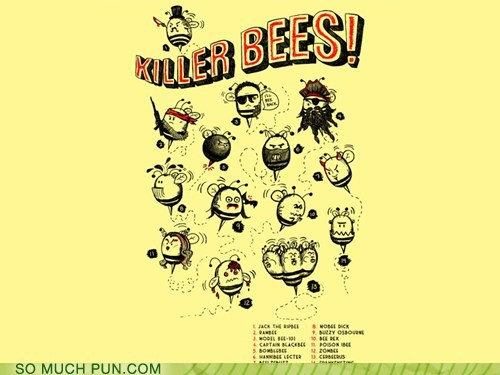 bees,diagram,double meaning,killer,killer bees,literalism