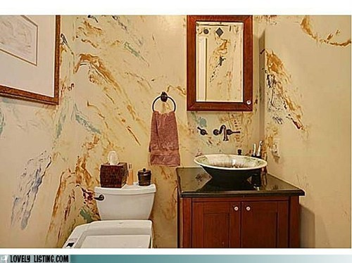 bathroom,gross,paint,smears,ugly,unfortnate,walls