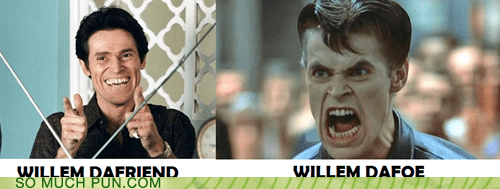 foe,friend,Hall of Fame,homophone,literalism,suffix,surname,Willem Dafoe