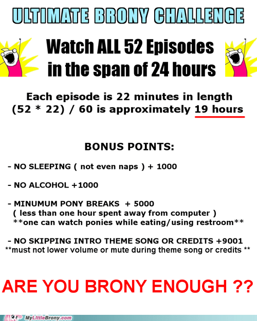 all the episodes endless ponies IRL ultimate brony challenge - 6175200000