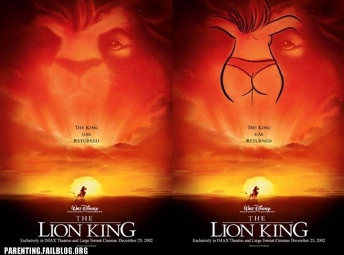 butt disney lion king movie poster - 6175794432