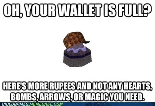 pots,rupees,scumbag,zelda