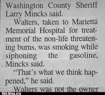 gasoline,marietta memorial hospital,smoking,washington county sheriff