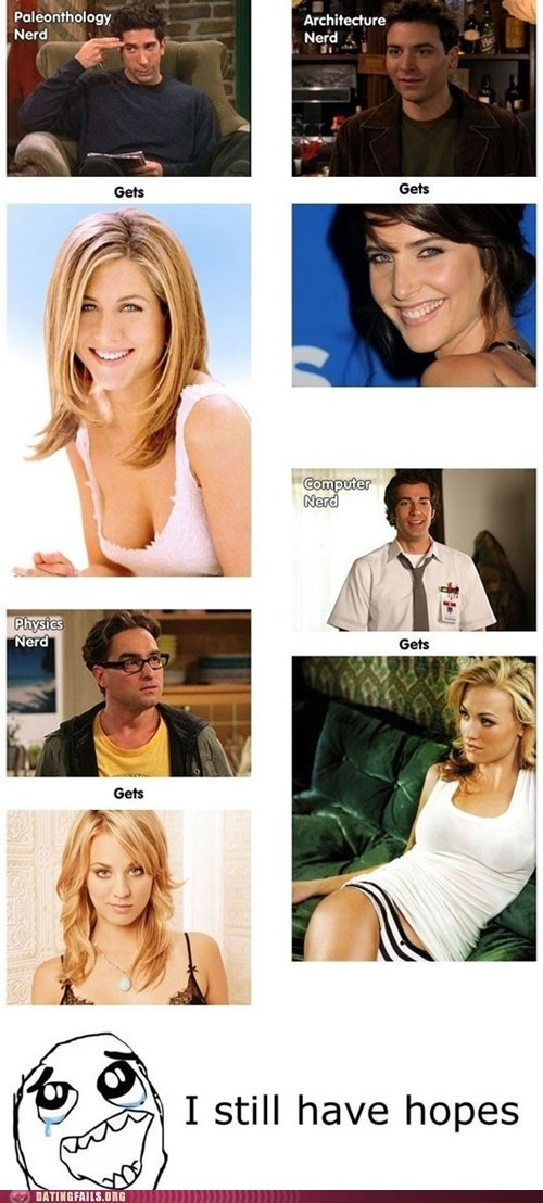 big bang theory Chuck friends hot girls nerds unrealistic expectations - 6176020736