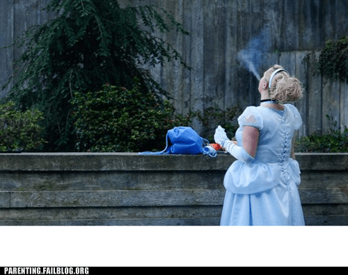 cigarette cinderella disney smoke break