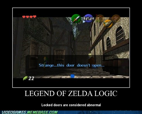 abnormal,locked door,logic,zelda
