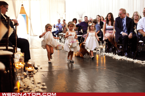 children flower girls funny wedding photos kids