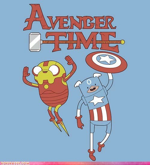 adventure time,art,comic,funny,The Avengers
