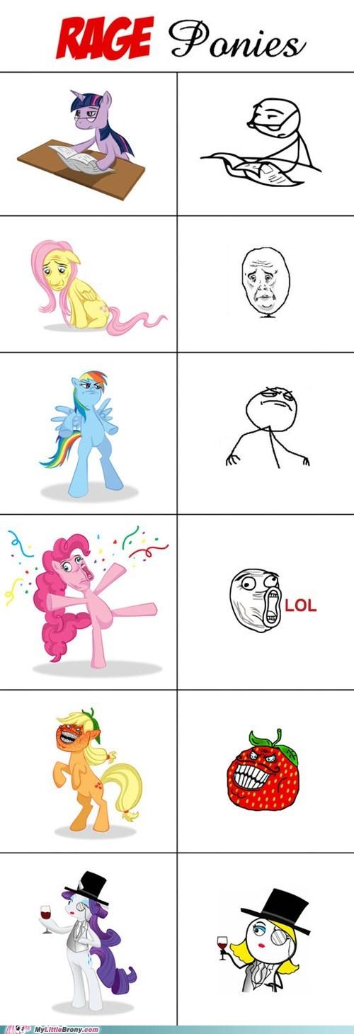 meme ponies ponified rage faces rage ponies - 6176528384