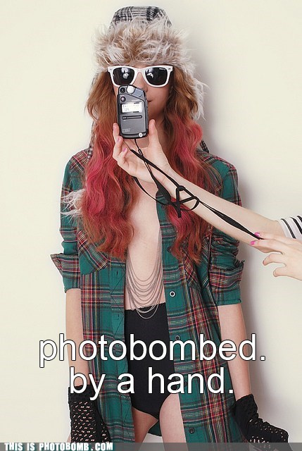 girl,hand,hipster,owned,photobomb
