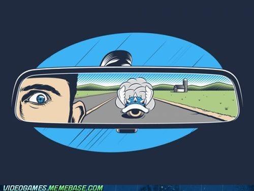 1st place blue shell driving Mario Kart meme - 6176590080