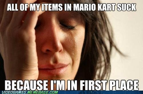 bananas first place first place problems Mario Kart meme