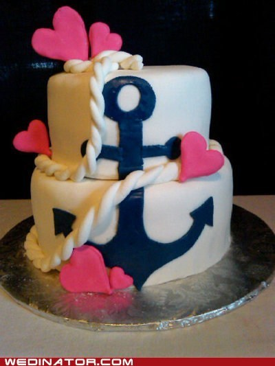 anchor cake funny wedding photos Hall of Fame sea wedding cakes - 6176955392