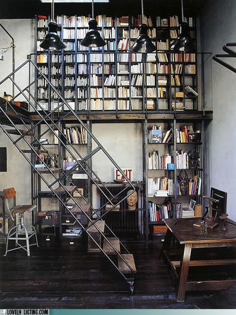 bookcase books shelves stairs - 6177283328