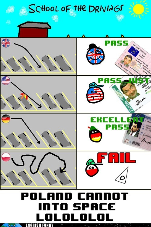 america britain drivers license driving test england Germany Hall of Fame parking poland UK usa