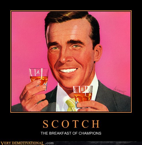 booze breakfast champions Pure Awesome scotch - 6177377792