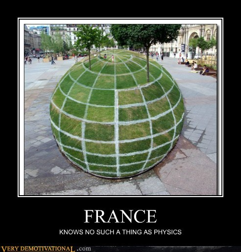 france globe hilarious illusion physics - 6177683968