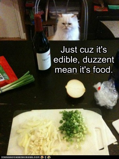 Just cuz it's edible, duzzent mean it's food.