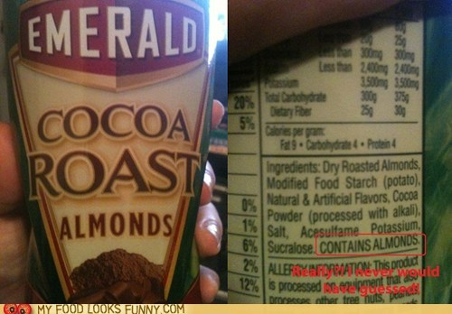 allergies,almonds,label,nuts,package,really