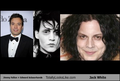 Jimmy Fallon + Edward Scissorhands Totally Looks Like Jack White
