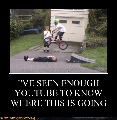 bad idea,bike,kids,Pure Awesome,ramp,youtube