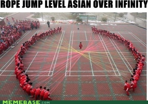 asian,infinite,jump rope,Memes