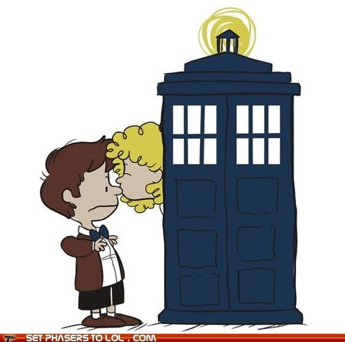 best of the week cartoons charlie brown doctor who Fan Art KISS River Song tardis the doctor