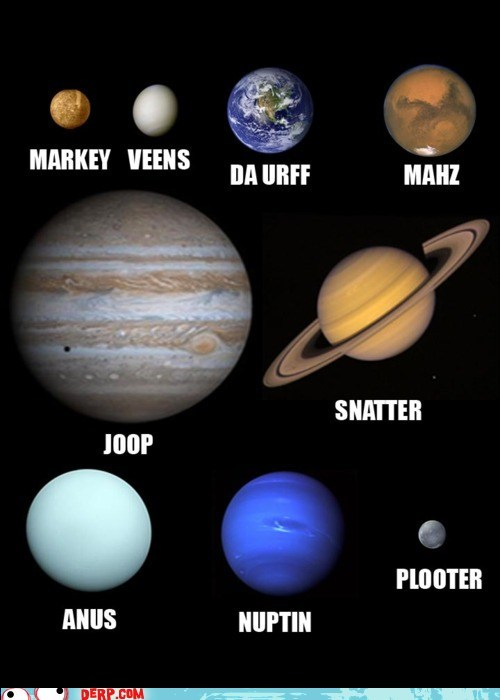 best of week,derp,earth,jupiter,Mars,neptune,planets,pluto,Saturn,solar system,uranus,venus