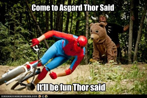 asgard Spider-Man Super-Lols Thor wtf - 6178606592
