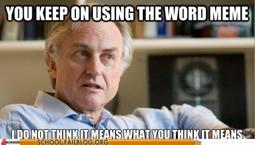 dawkins,meme,you keep using that word