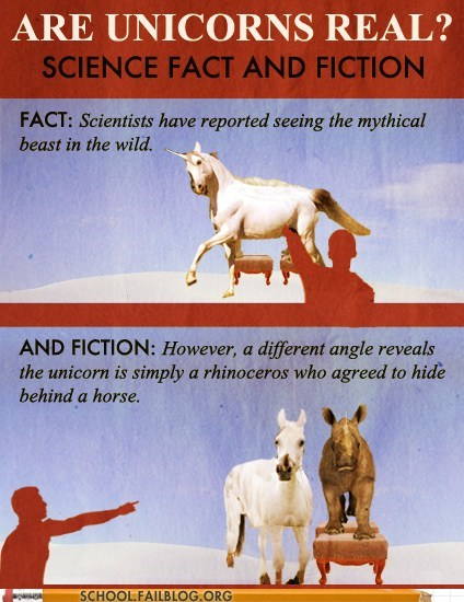animals,fact and fiction,rhinos,the power of science,unicorns