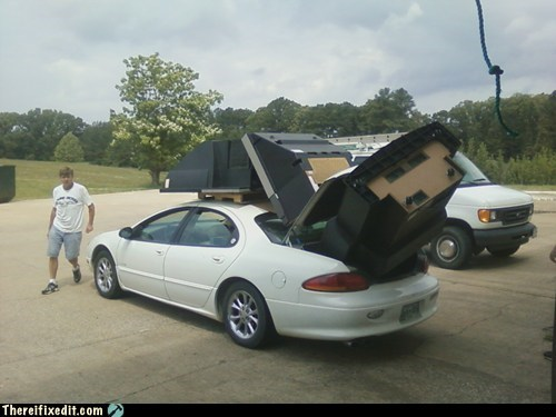 big-tvs,bulky,car,car fail,furniture,moving,oversize load,television,televisions,TV