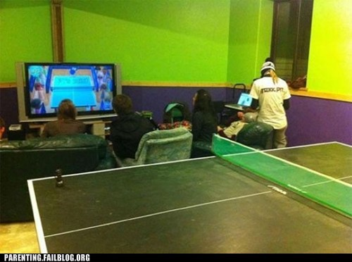lazy kids ping pong table tennis video games wii