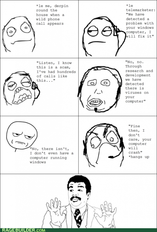 Rage Comics,scam,virus,watch out guys