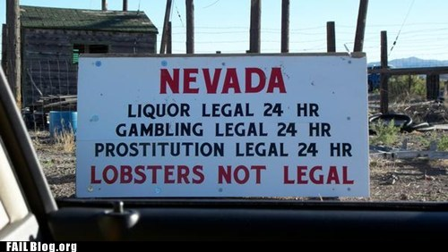 funny sign,gambling,legal,lobsters,Nevada