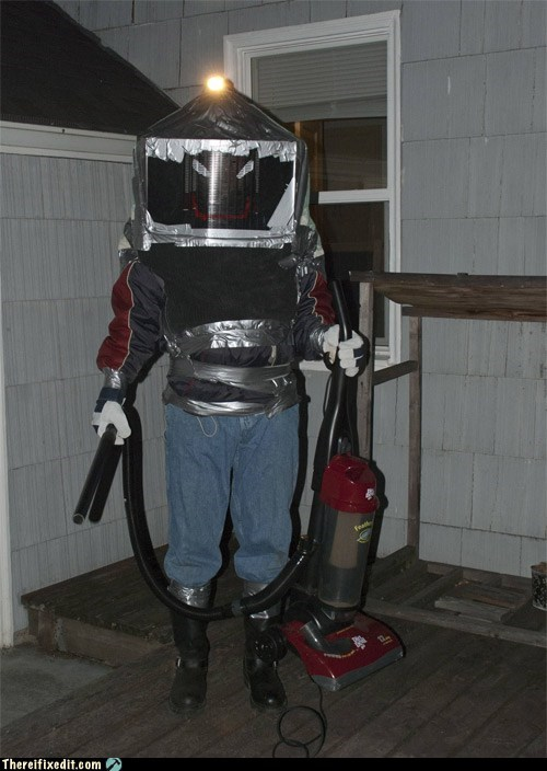 Duct Tape Use #152302: Bee Extermination Suit with Onboard Light