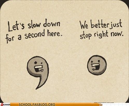 comma period punctuation