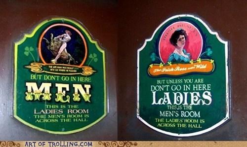 bathroom IRL misleading sign - 6180285696