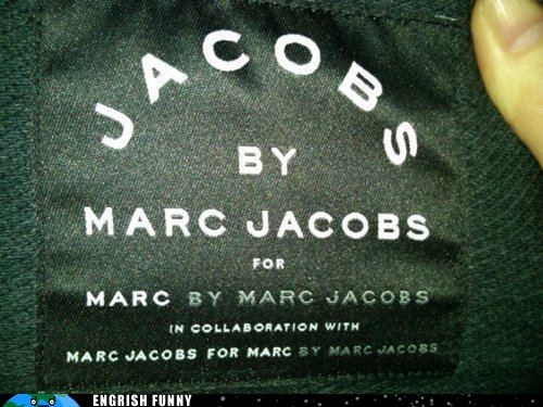 clothes tag clothing designer fashion Hall of Fame marc jacobs - 6180319488