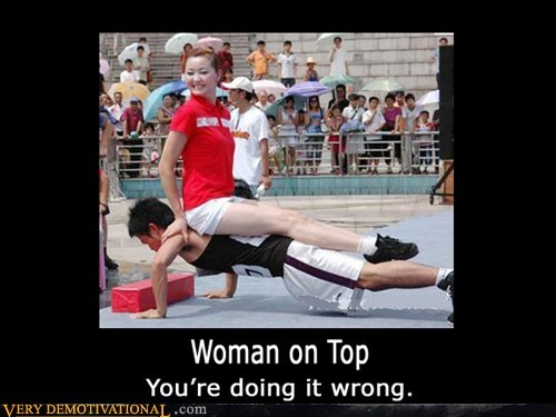 doing it wrong,hilarious,on top,push ups,woman