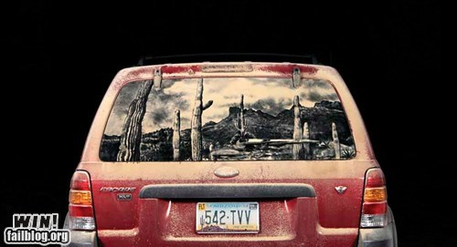 art,car,dirt,windshield