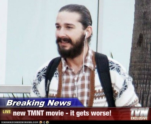 Breaking News - new TMNT movie - it gets worse!