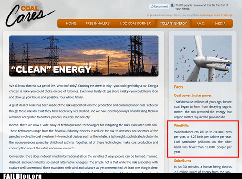 clean energy Coal Cares pollution website wind turbines - 6180739072