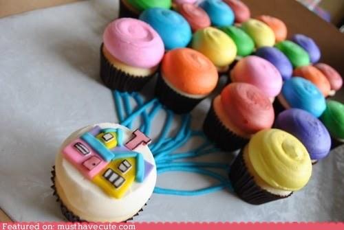 Balloons cupcakes epicute Movie pixar up - 6180873216