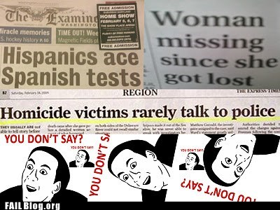headlines,hispanics,homocide victims,woman missing,you dont say