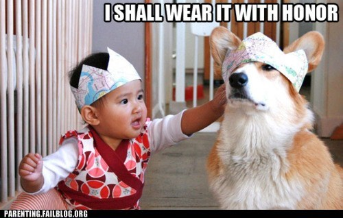 baby,crowns,dogs,i shall wear it with honor