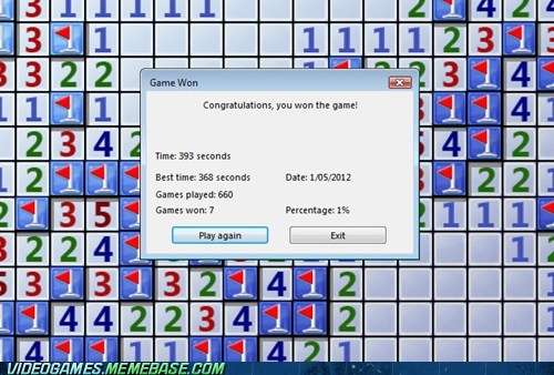 impossibru,Minesweeper,one percent,PC