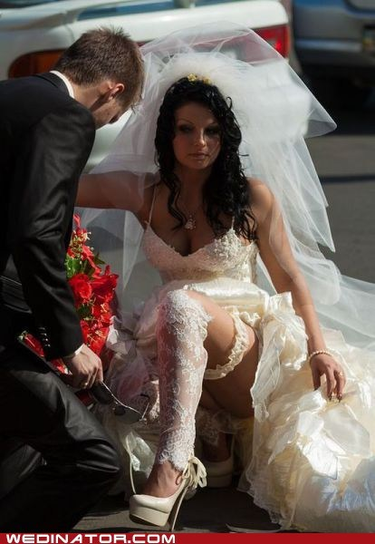 bride,funny wedding photos,trashy